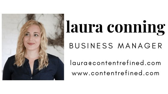 laura conning business manager content refined