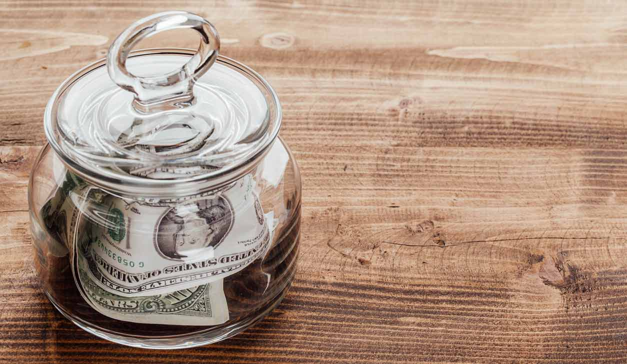 Jar Full of Dollars
